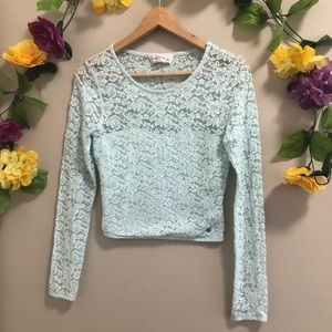Abercrombie & Fitch Lace Sweetheart Crop